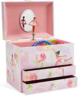 musical jewelry box with black ballerina