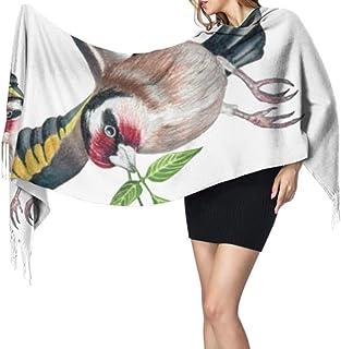 27 'x77' Bufanda para niñas Jilguero europeo Carduelis Bird Bufanda de cachemira Bufanda para niñas Elegante y cálida manta