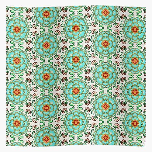 Lancave9s Spring Green Flowers Oriental Colors Floral Red Summer Das eindrucksvollste und stilvollste Poster für Innendekoration, das derzeit erhältlich ist