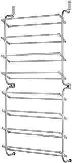 Type A Over The Door Shoe Rack | Door Shoe Organizer for 24-Pairs of Shoes | for Back of Door Hanging Organization in Closets, Bedroom, Bathroom | Metal