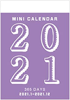 $29 » WUCHENG 2021 Retro Mini Desktop Paper Calendar Dual Daily Scheduler Table Planner Yearly Agenda Organizer 365 Days to Do L...
