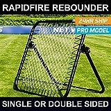 RapidFire Soccer Rebounder | Spring-Loaded Rebound Net | Single Or Double Sided