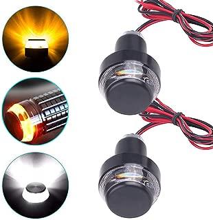 FICBOX 2 Pack Motorcycle Turn Signal Lights LED Handlebar End Light 22mm Indicator Flasher Handle Bar Blinker Side Marker Lamp