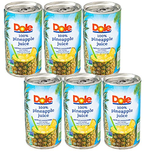 Dole Pineapple Juice 6-Pack (36 Total Ounces) (Includes Maryland Wholesale Sticker)