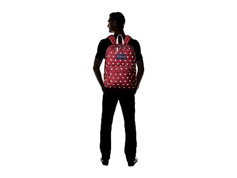 JanSport Bleeding Russet SuperBreak® Hearts Red parTwpgqUW