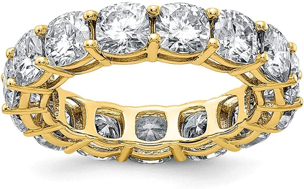 14K New product type Yellow Gold Cushion Eternity G H Moissanite Light I Max 60% OFF Ban True