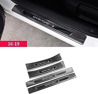 Pegatinas Tiras Proteccion Accesorios para Nissan Qashqai J10 2010-2014 Bienvenido Patada Pedal Door Sill Desgaste BTSDLXX 4Pcs Coche Acero Inoxidable Externo Barra Umbral Puerta