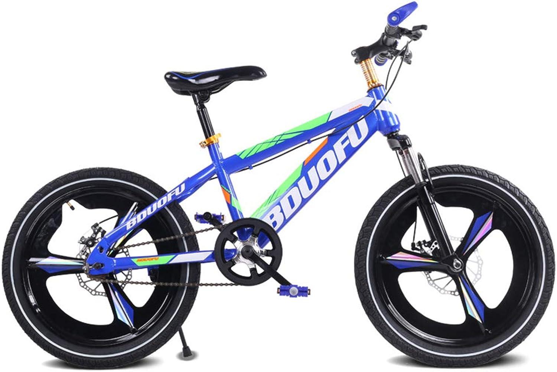 precios mas bajos SJSF SJSF SJSF Y Bicicletas de Montaña livianas Flying 18 '' Bicicletas para Niños, Seguridad Freno Doble Llanta Antideslizante Bicicleta de Montaña de Velocidad única para Estudiantes,azul  ahorrar en el despacho