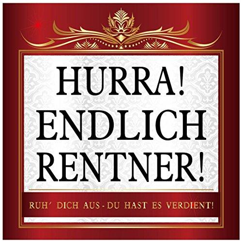 Udo Schmidt sticker Hurra! Eindelijk gepensioneerde sticker 10 x 10 cm pensioen feest
