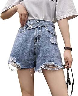 BeiBang(バイバン)デニム短パン レディース ショートパンツ 短パン ダメージ加工 韓国ファッション 薄手 ホットパンツ 着痩せ 夏物