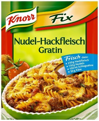 Knorr Fix für Nudel-Hackfleisch-Gratin, 20er Pack (20 x 36 g Beutel)