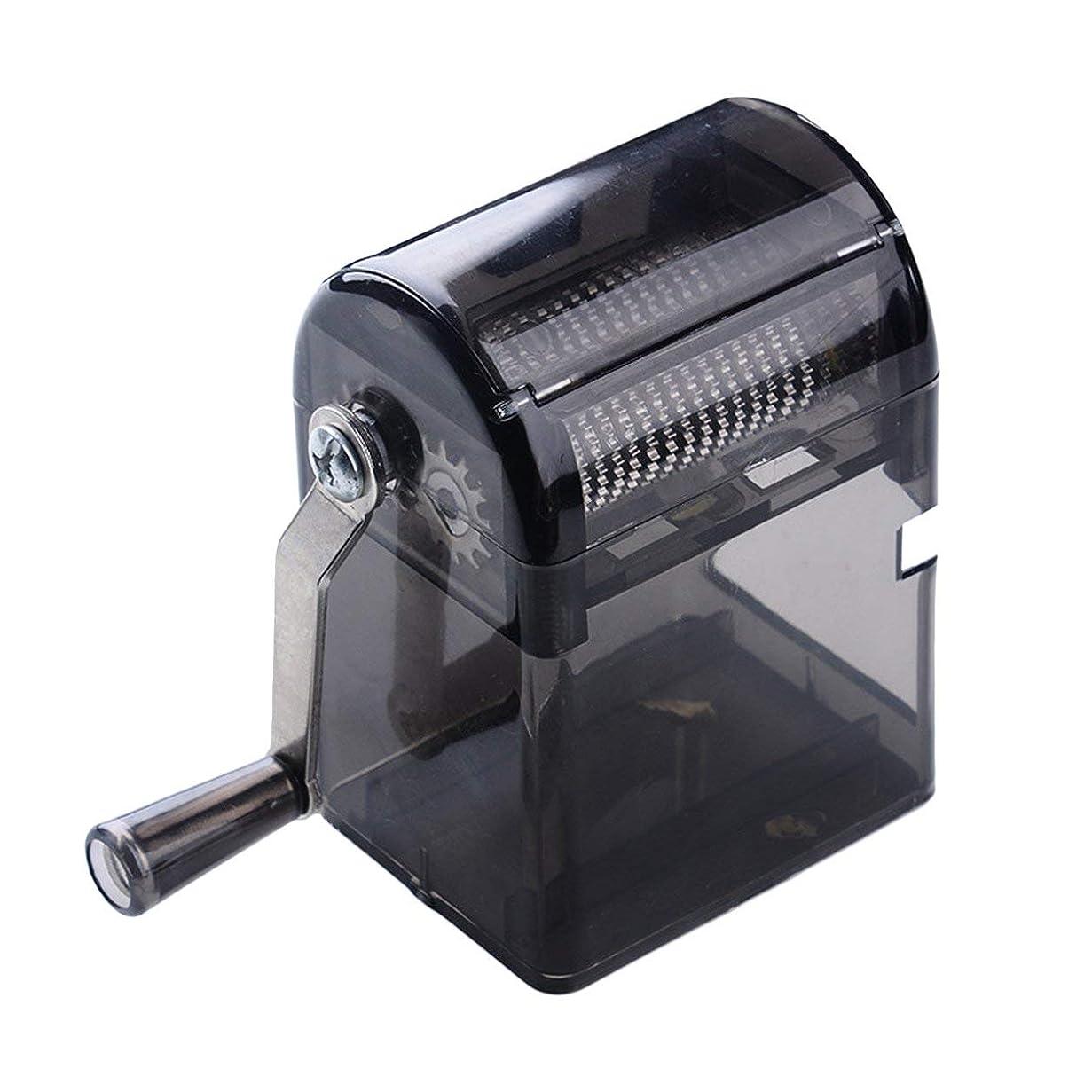 病的継承ヒゲSaikogoods シンプルなデザイン手回しタバコグラインダー耐久性のある利用タバコハーブスパイスクラッシャーマニュアルミュラータバコ用品 黒