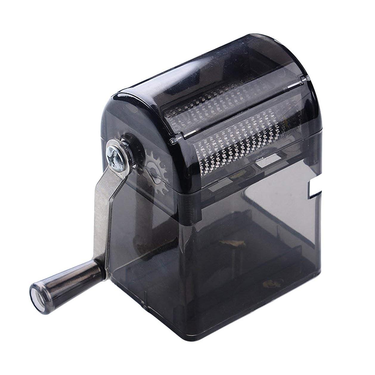 調整可能平和まあSaikogoods シンプルなデザイン手回しタバコグラインダー耐久性のある利用タバコハーブスパイスクラッシャーマニュアルミュラータバコ用品 黒
