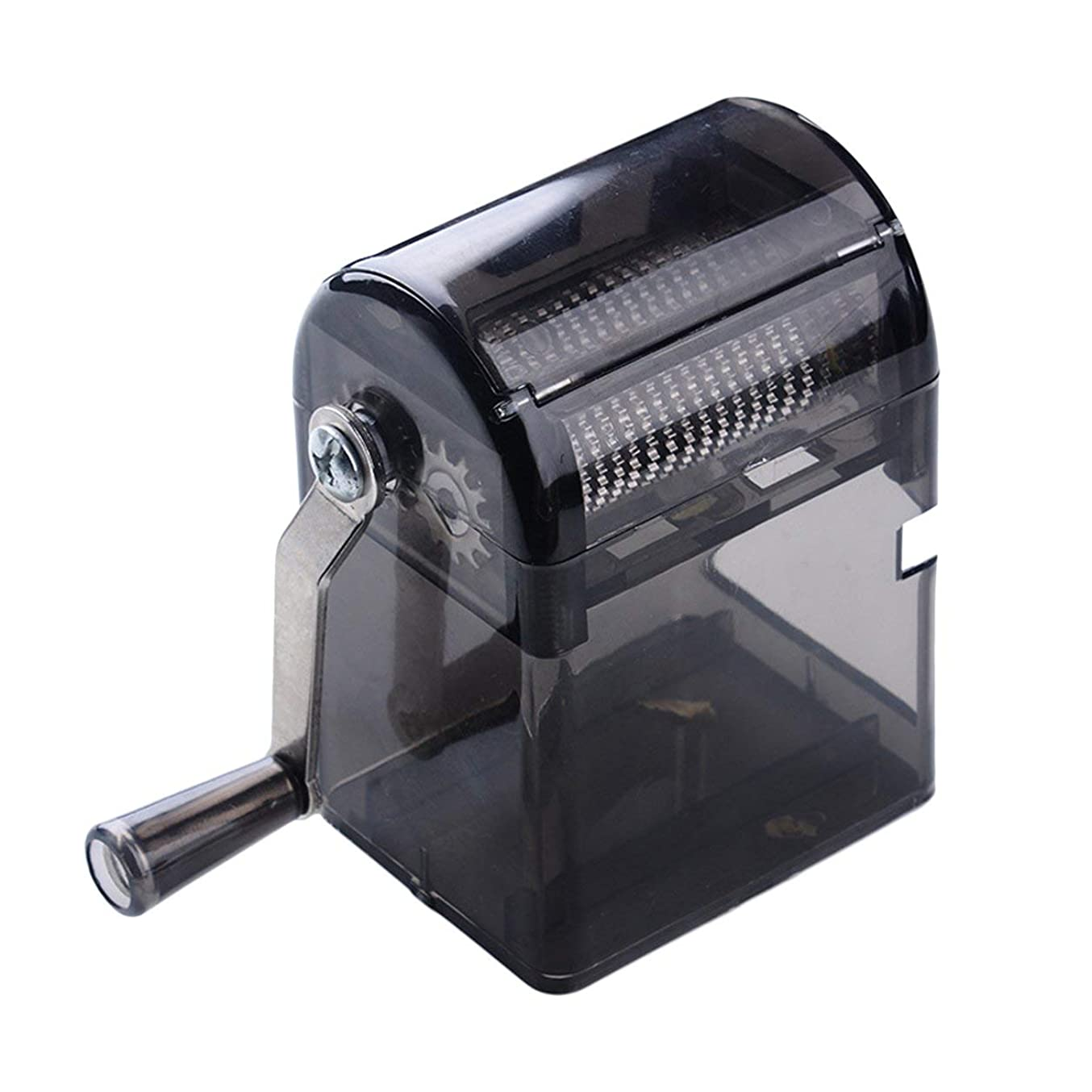 カビあからさま降下Saikogoods シンプルなデザイン手回しタバコグラインダー耐久性のある利用タバコハーブスパイスクラッシャーマニュアルミュラータバコ用品 黒
