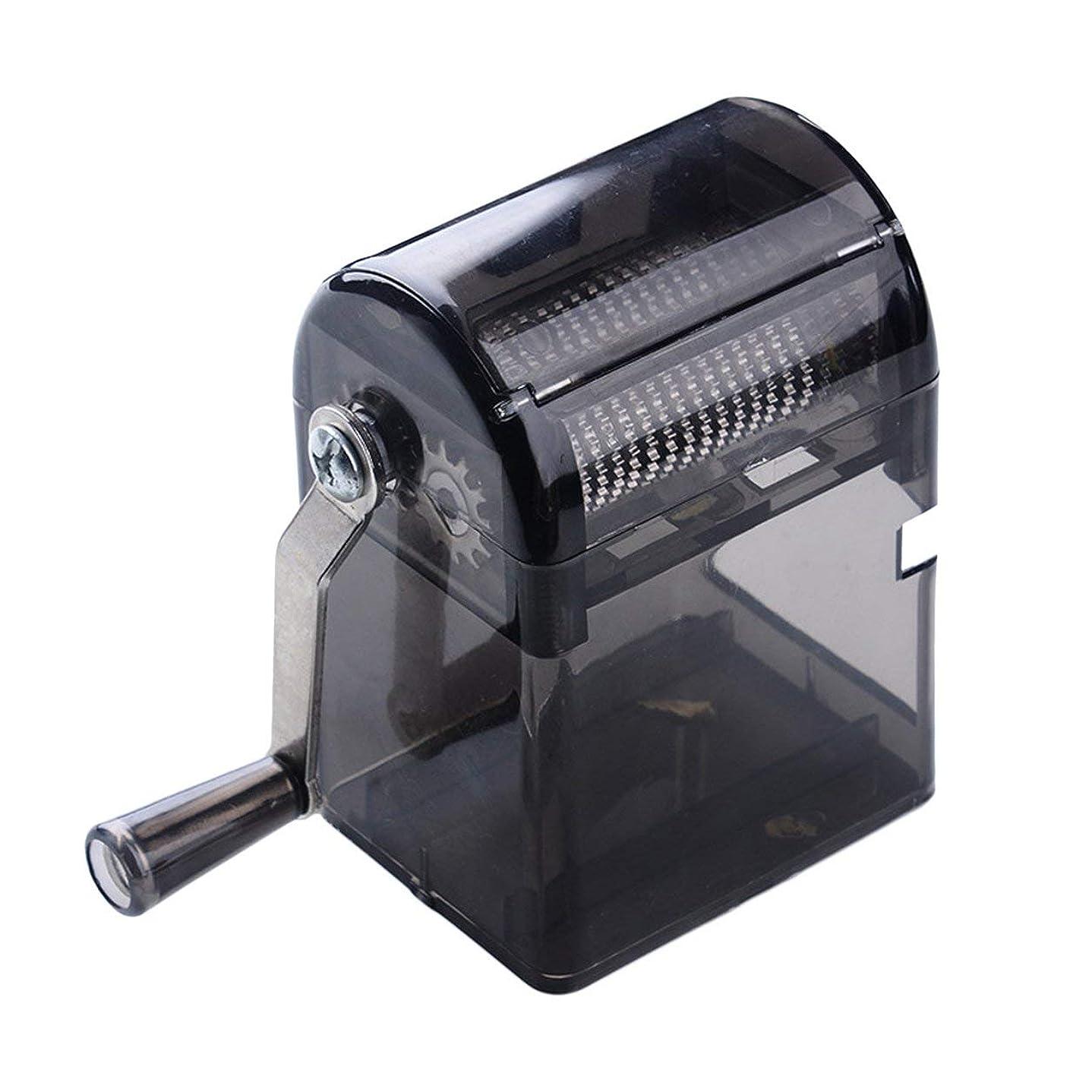 緯度売上高折Saikogoods シンプルなデザイン手回しタバコグラインダー耐久性のある利用タバコハーブスパイスクラッシャーマニュアルミュラータバコ用品 黒