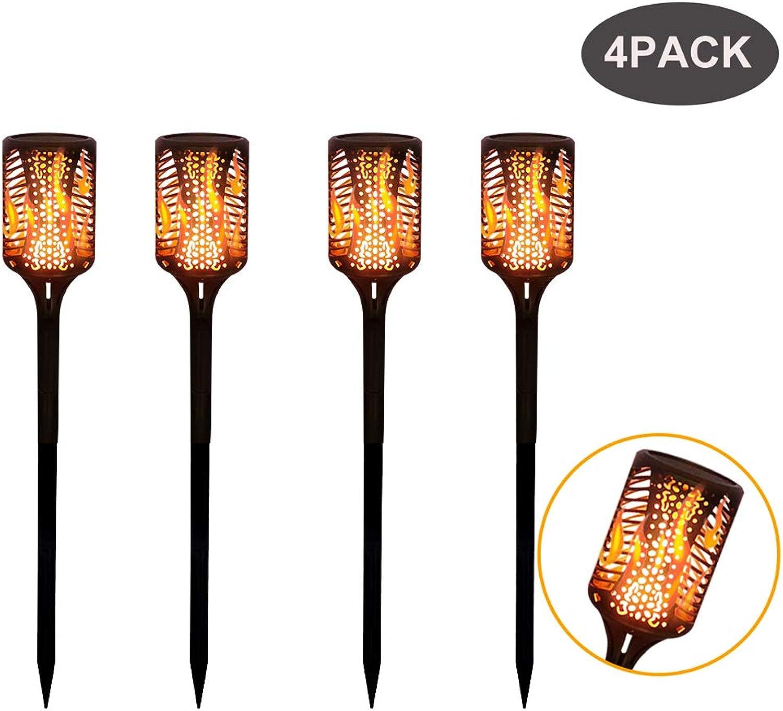 Solarleuchten Garten Licht 99 LED Dmmerung bis Morgen Flackern, Solarlampen für Auen LED Solar Gartenfackel IP65 Wasserdicht,Garten Solar Fackeln, Realistischer Flammeneffekt (4 Stück)