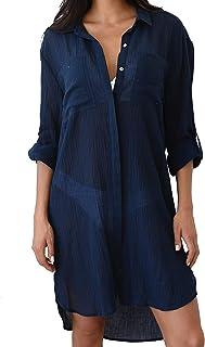 Camisolas y Pareos Mujer Mini Vestido Asimetrico Camisas Top