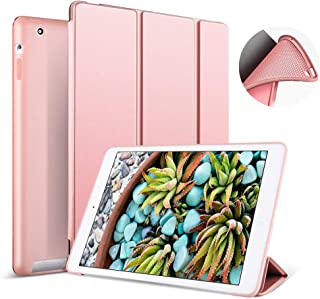 Aoub (Old Model) for ipad 2/3/4 case Slim Lightweight Tri-Fold Silicone Stand Cover with Auto Sleep/Wake Function,for Old iPad 2th/3th/4th Generation case (Rose Gold)