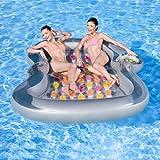 NEU riesige Luftmatratze 'Double Lounge' 2,20m x 1,85m / Schwimminsel / Wasserspielzeug / Liege /...
