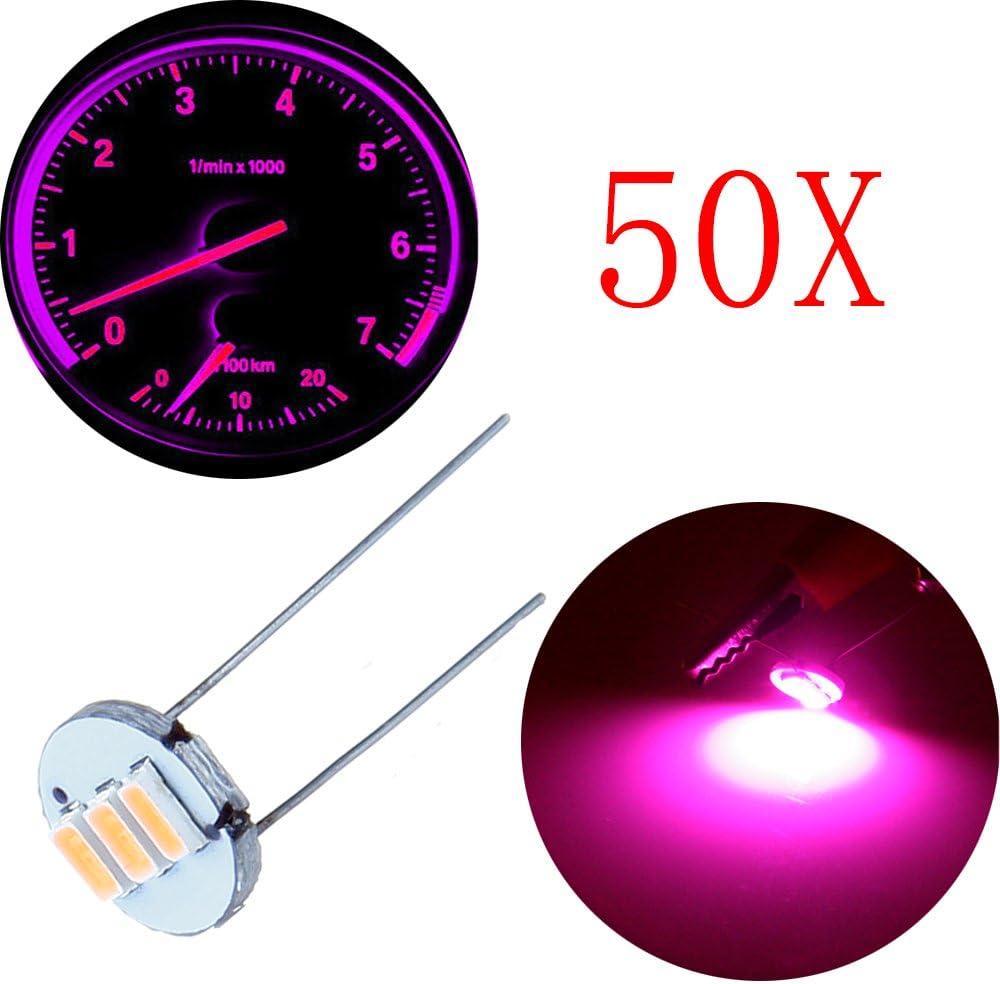 Direct store cciyu High quality new 50Pcs 4.7mm-12v Car purple Indicator Lamps Bulbs Mini Clus