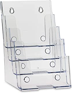Dazzling Displays Clear Acrylic 4-Tier Brochure Holder for 6