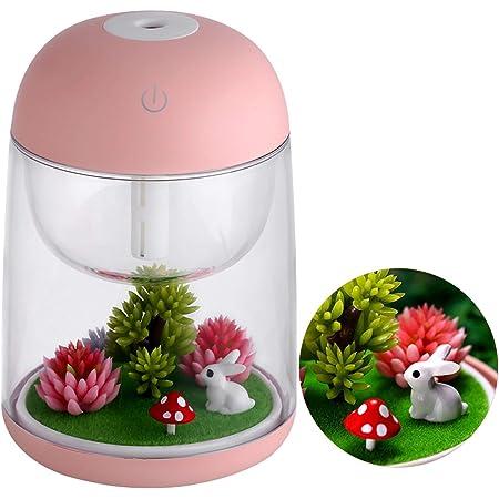Ymiko Fish Tank Micro Landscape Mini USB Air Humidifier Purificateur dair pour Le Bureau /à Domicile
