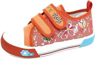 Zapatillas para Niña con Velcro en Lona Bordada   Bambas Bonitas Niña para Primavera Verano - Eli