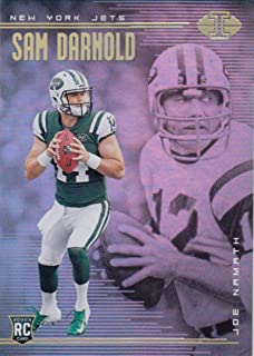 Football NFL 2018 Panini Illusions #37 Joe Namath/Sam Darnold #37 NM+ NY Jets