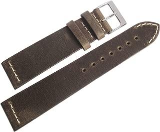 ColaReb 20mm Short Venezia Mud Leather Watch Strap