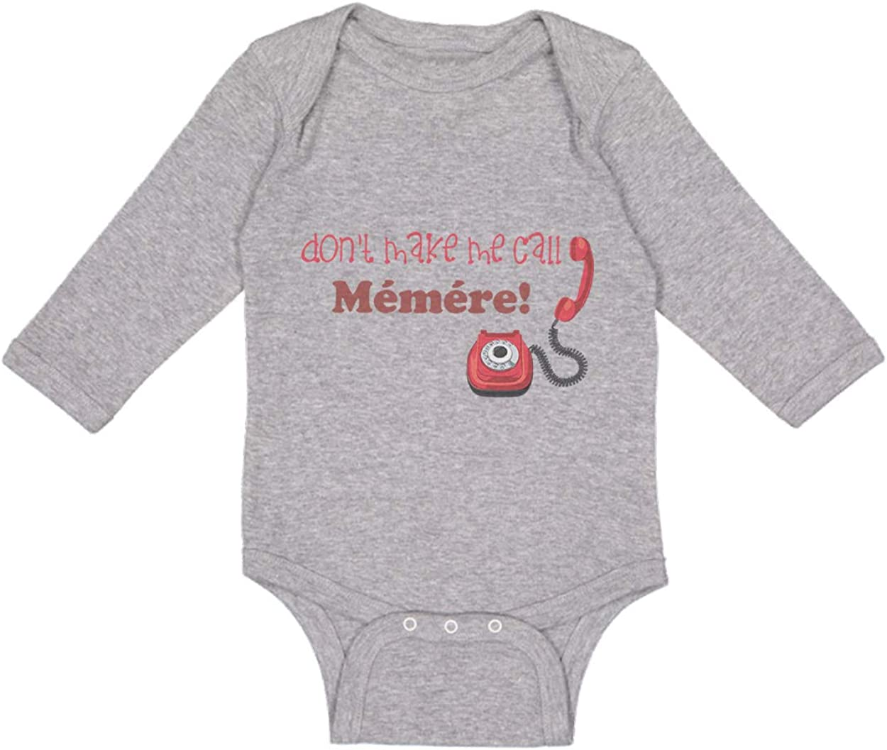 Cute New color Rascals Baby Long Sleeve Bodysuit Me Call Max 75% OFF Memere Don't Make