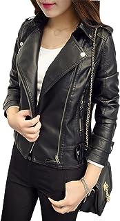 Amazon.es: chaquetas polipiel negras mujer