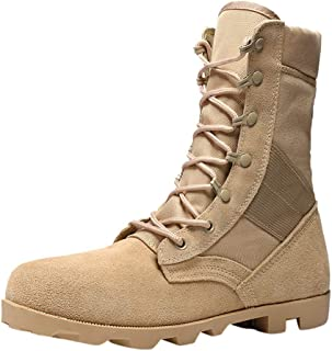 Solid Color Stitching Band Width Foot Sole Toe Protection Men's Boots Anti-Skid Desert Outdoor Tactical Climbing Hiking Mountain Training Daily Shoes