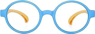 Kids Blue Light Blocking Glasses Children Round Anti Eyestrain Eyewear for Computer, Phones, TV, Video Gaming Boys Girls B...