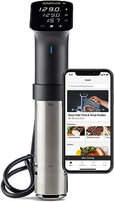 Anova Culinary | Sous Vide Precision Cooker Pro (WiFi) | 1200 Watts | All Metal | Anova App Included