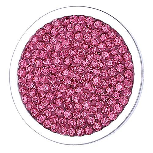 Morella Damen Coin 33 mm Zirkoniasteine rosa