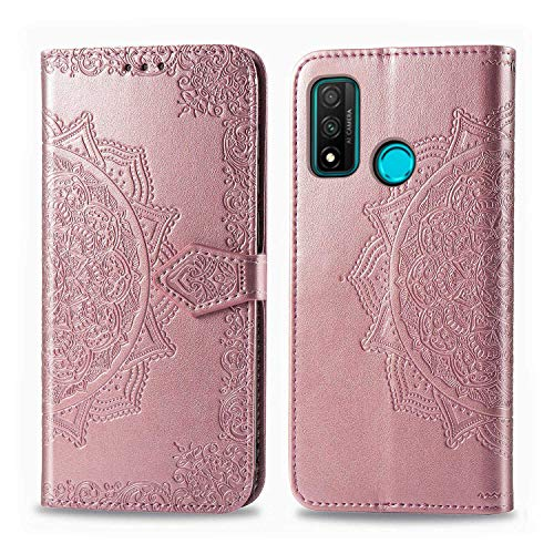 Bear Village Hülle für Huawei Nova Lite 3 Plus, PU Lederhülle Handyhülle für Huawei Nova Lite 3 Plus, Brieftasche Kratzfestes Magnet Handytasche mit Kartenfach, Roségold