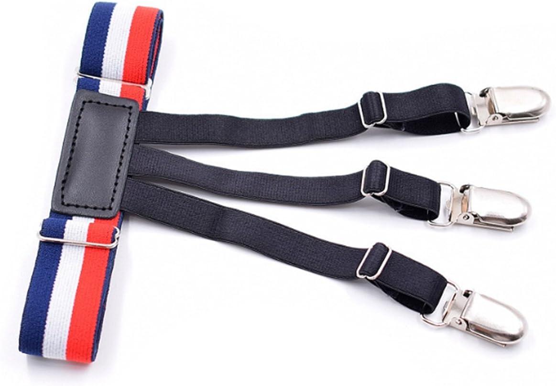 YUNEE Men's Shirt Clips Elastic Width 2.5X52CM Brace Fashion Business Men One Pair