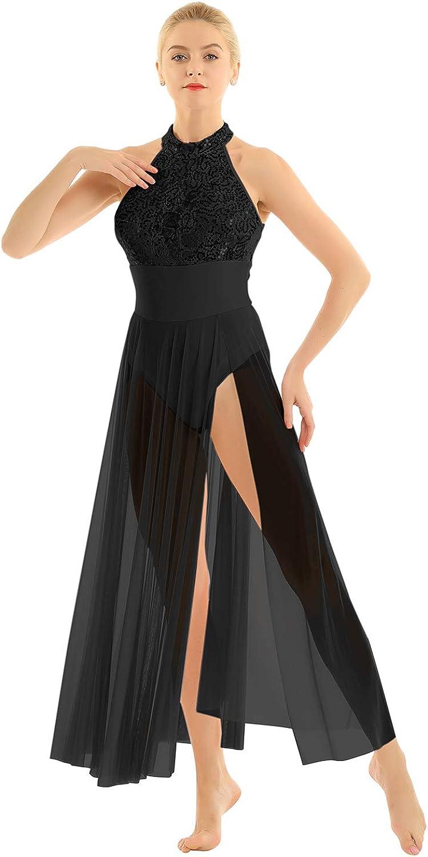 Max 46% OFF TiaoBug Women's Lyrical Adult Sequins Dress Max 58% OFF Ballet Dance Leotard