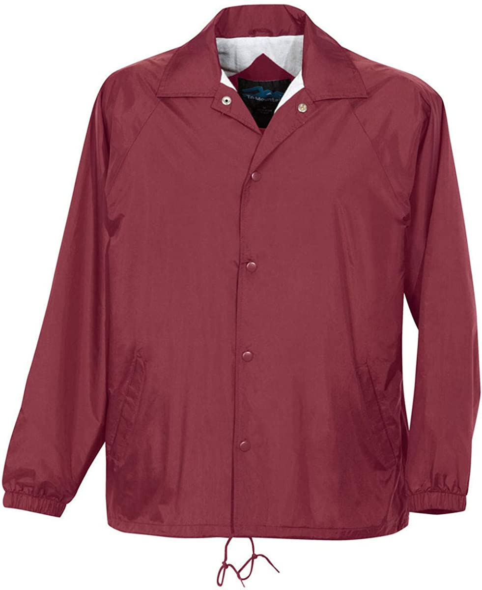 Maroon Color - 6 Sizes - Coach Jacket Men's Big and Tall Flannel Lining
