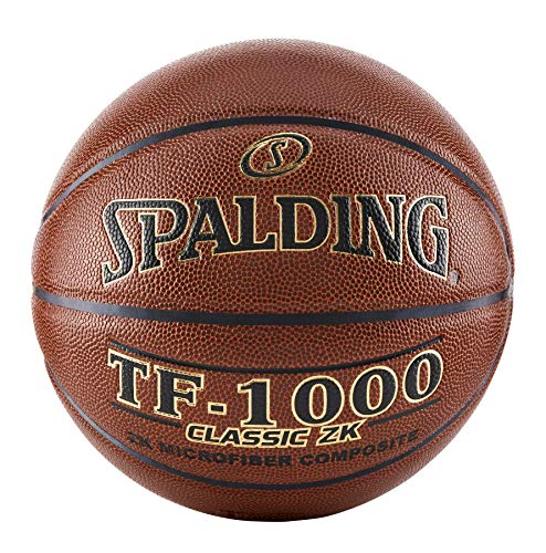 """Spalding TF-1000 Classic ZK Indoor Game Basketball , Brown , Size 7, 29.5"""""""