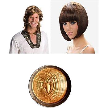 髪色ワックス,インスタントのヘアワックス,1 回限りの一時的な自然な髪型色染料ヘアワックス,DIY 粘土スタイリング スタイリング ヘアワックス ハロウィーン パーティー、コスプレ、日常生活用 (ブラウン)