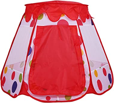 GLOGLOW Kids Portable Play Tent Foldable Outdoor & Indoor Tent Boys Girls Playhouse Children Playground Camping Toy Birthday Gift(Pink )