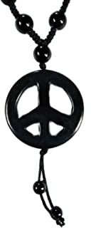 MM Leather Base Metal and Chain for Men's & Boy's - (Black)