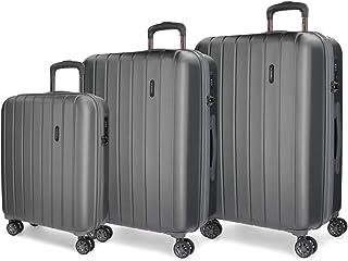 Wood Set de bagages, 75 cm, 220 liters, Gris