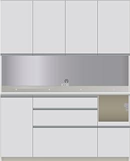 パモウナ 食器棚CI パールホワイト 幅160×高さ198×奥行45 日本製 CIR-S1600R
