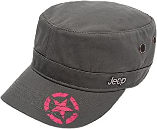 450bab0d0f941 Jeep Unisex Printing Star Cotton Cadet Army Cap Cotton Twill Military Corps Hat  Flat Top Cap