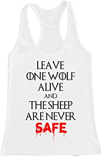 FTD Apparel Women's Wolf and Sheep Racerback Tank Top