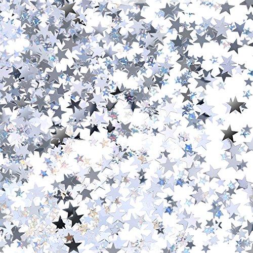 Silver Metallic Star Confetti Glitter