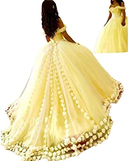 Women's Off Shoulder Quinceanera Dress A-line Wedding Dresses Evening Gowns