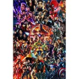 Puzzle Erwachsene Kinder Puzzle Marvel Avengers Anime 300/500/1000/1500 Pieces (Color : E, Größe :...